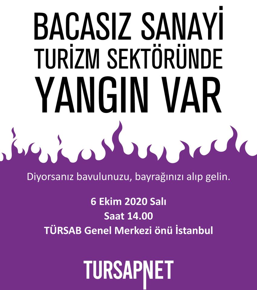 Seyahat acentelerinden, TÜRSAB Genel Merkezi önünde eylem - TurizmGM